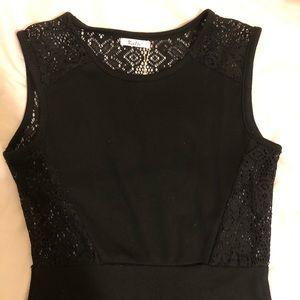 Beautiful lace-back black dress